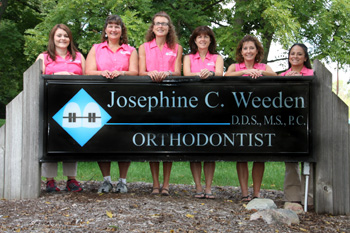 Photo of Dr. Weeden and her staff.